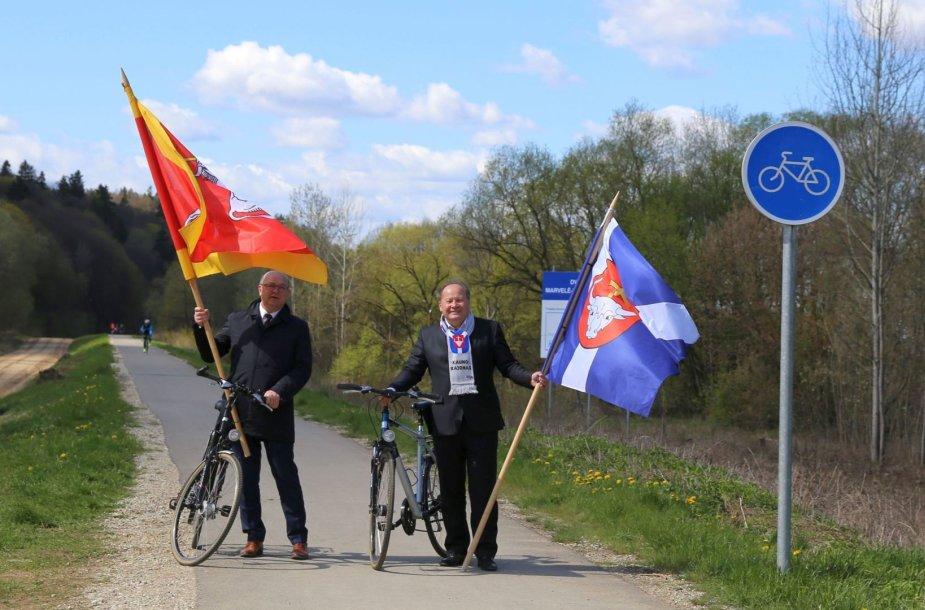 Kauno meras Visvaldas Matijošaitis (kairėje) ir Kauno rajono meras Valerijus Makūnas