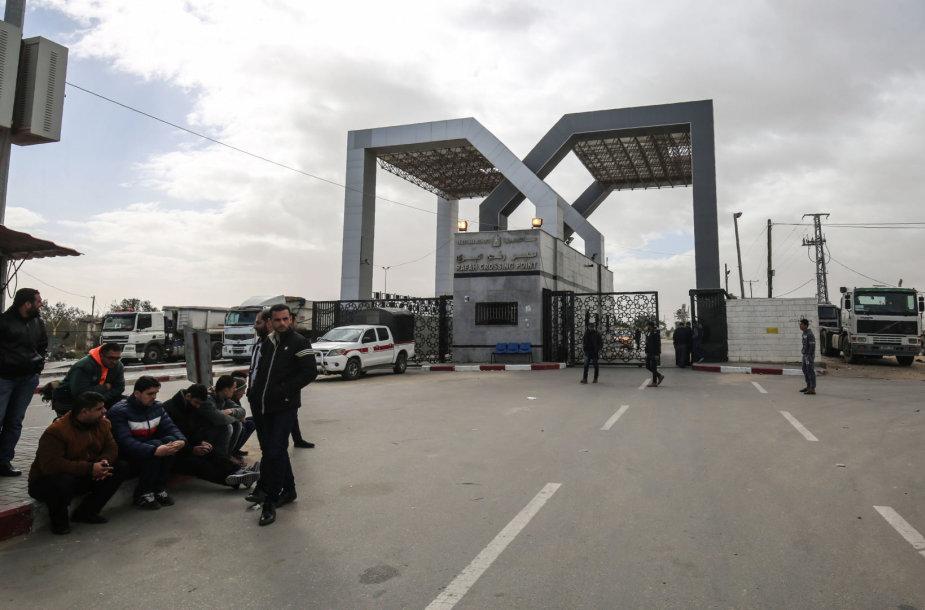 Uždaryta sienos perėja tarp Egipto ir Gazos Ruožo