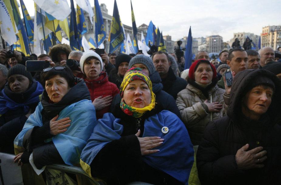 """Kijeve vyksta akcija """"Raudonos linijos Zelenskiui"""""""