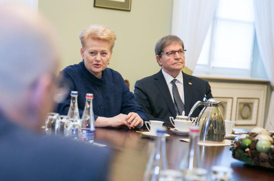 Dalia Grybauskaitė ir Eugenijus Jovaiša