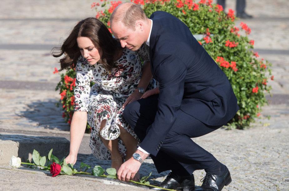 Princas Williamas ir jo žmona Kate Lenkijoje