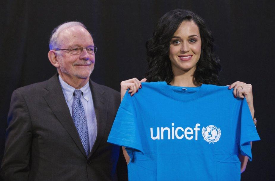 Katy Perry paskelbta naująja UNICEF geros valios ambasadore