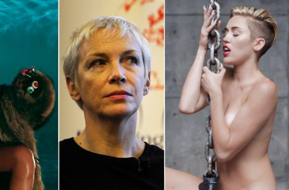 Rihanna, Annie Lennox ir Miley Cyrus