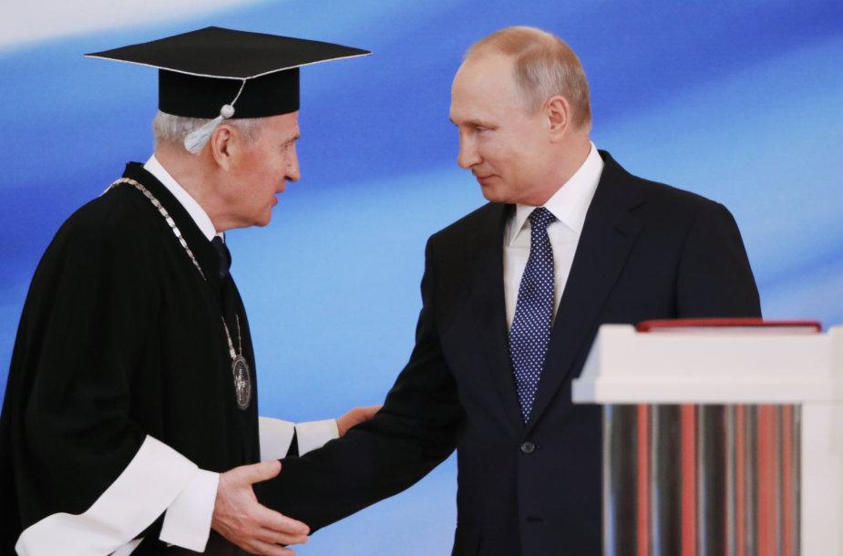 Valerijus Zorkinas ir Vladimiras Putinas