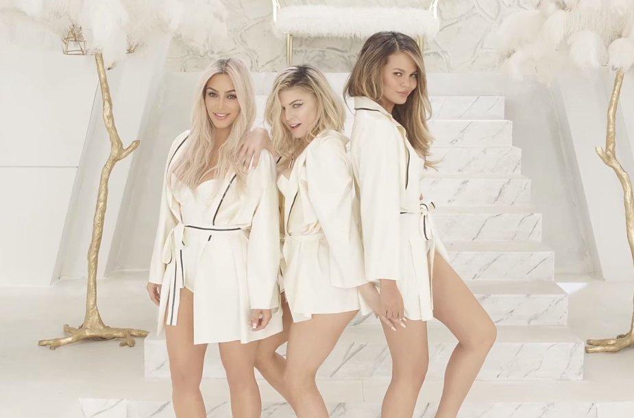 "Kim Kardashian, Fergie ir Chrissy Teigen vaizdo klipe""M.I.L.F.$"""