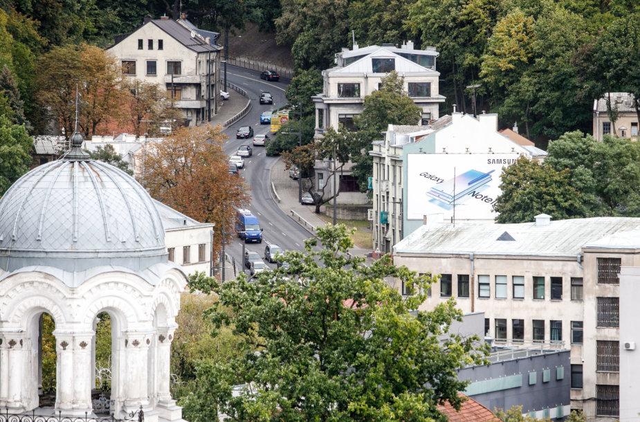 """Kauno panorama nuo """"Britanikos"""" stogo"""