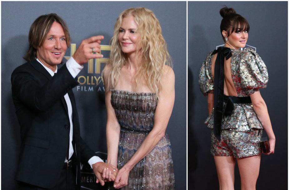 Nicole Kidman su Keithu Urbanu ir Shailene Woodley