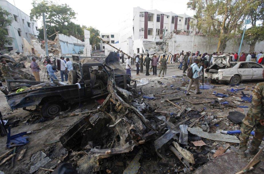 Somalyje Mogadišo viešbutyje įvykdyta ataka.