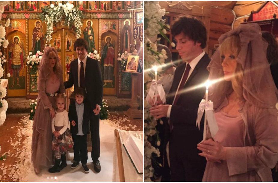 Bažnytinė Alos Pugačiovos ir Maksimo Galkino santuokos ceremonija
