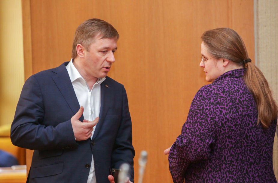 Ramnūnas Karbauskis ir Agnė Širinskienė