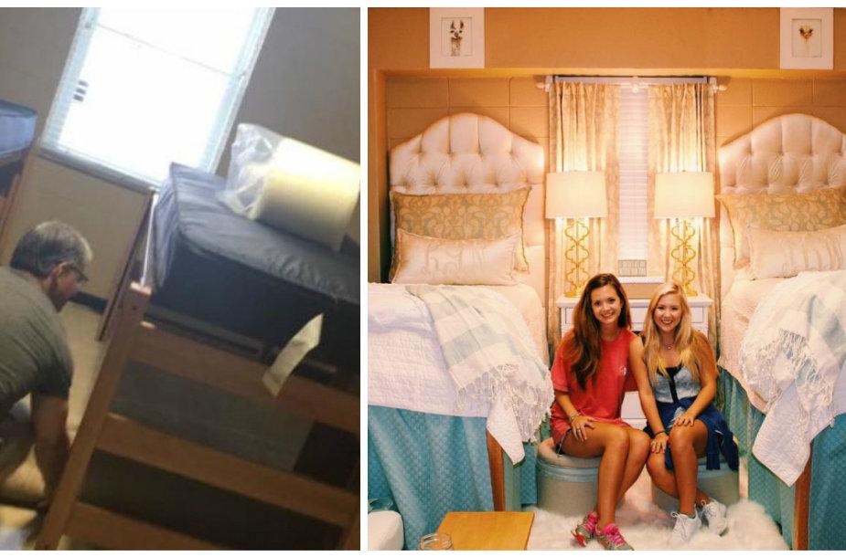Abby Bozeman ir Lindy Goodson bendrabučio kambario pokyčiai