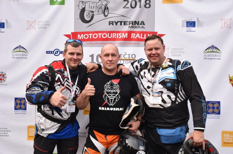 """Birštone  finišavo """"Mototourism rally 100-mečio kelionė"""""""