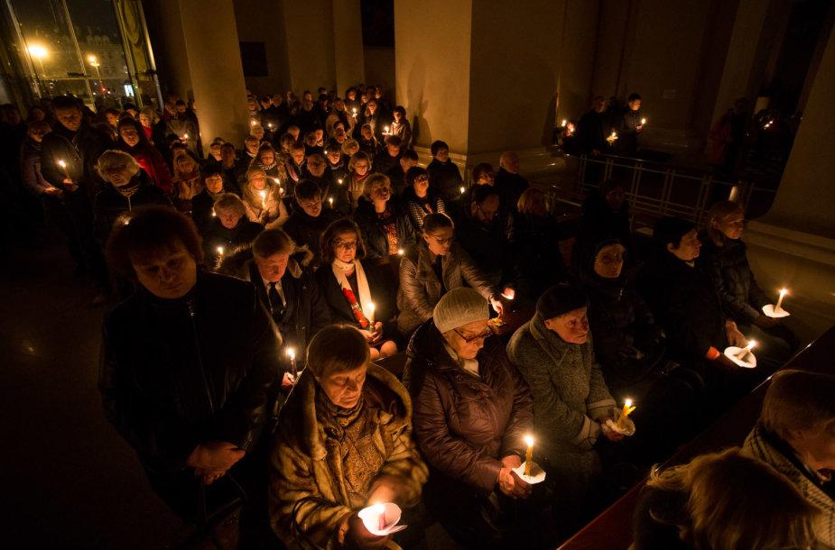 Velyknakčio liturgija Vilniaus arkikatedroje bazilikoje