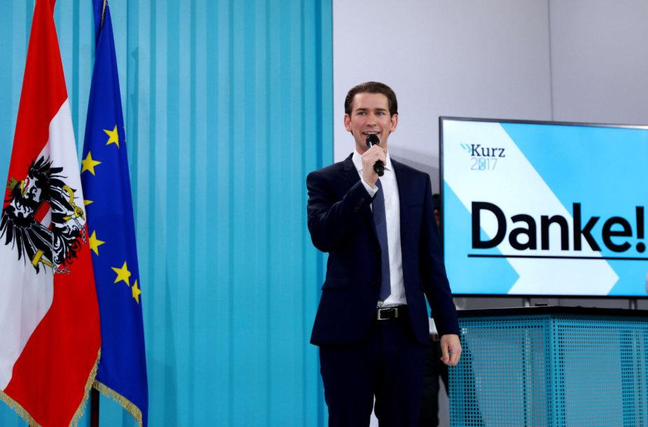 Austrijos Liaudies partijos lyderis Sebastianas Kurzas