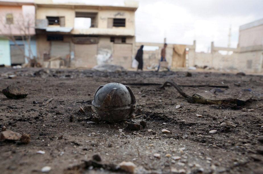 Nesprogusi bomba Sirijoje