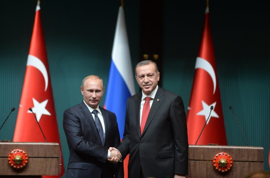 Vladimiras Putinas ir Recepas Tayyipas Erdoganas
