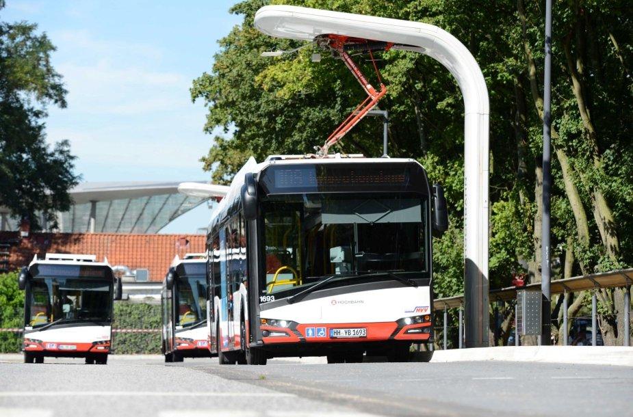 Įkrovimo stotelė autobusams
