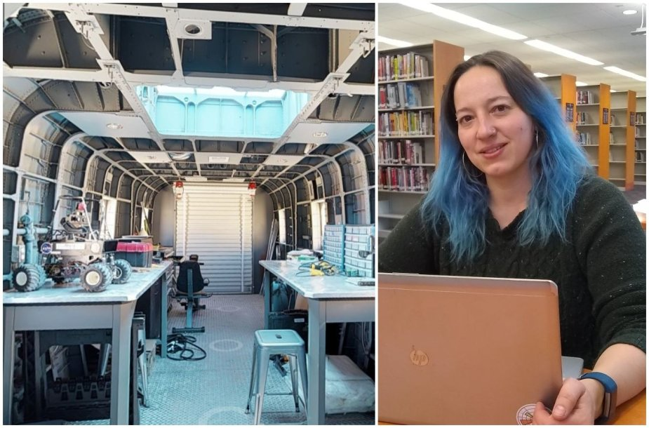 Inga Popovaitė ir bazės darbo kambarys