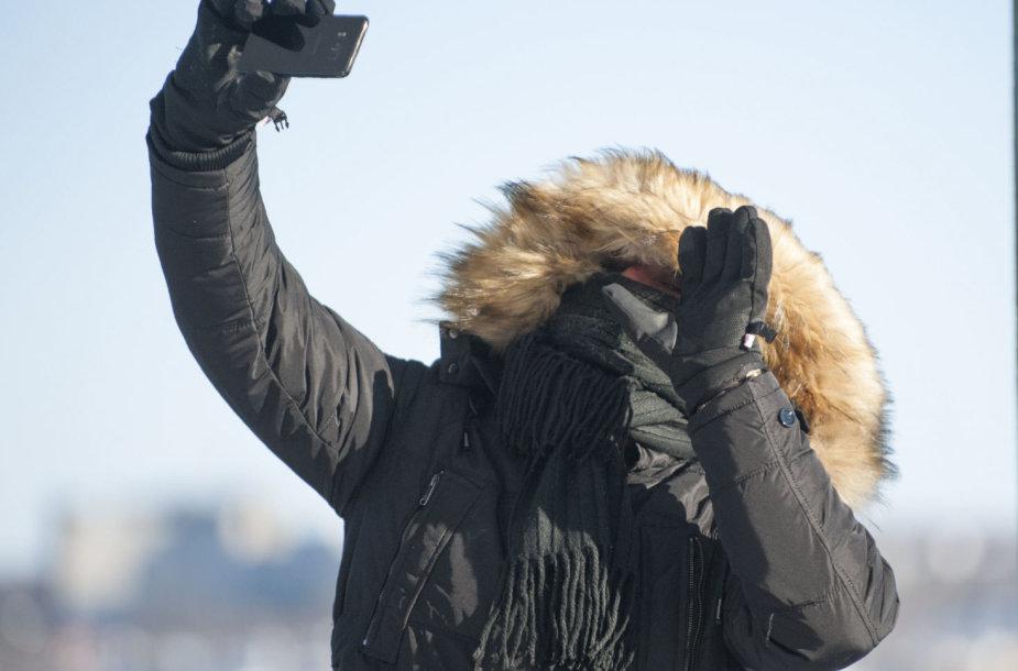 Kanadą ir JAV šiaurinius regionus sukaustė arktinis šaltis