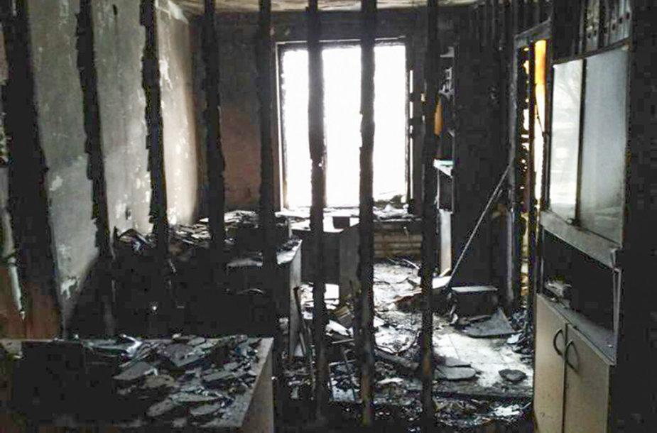 """Padegtas """"Memorial"""" biuras Ingušijoje"""