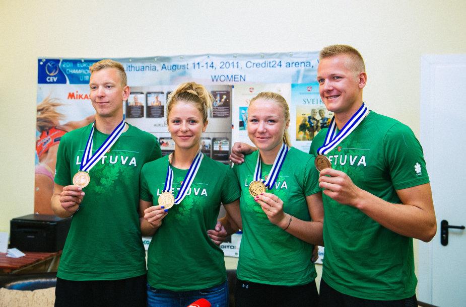 Arnas Rumševičius, Monika Povilaitytė, Ieva Dumbauskaitė ir Lukas Každailis
