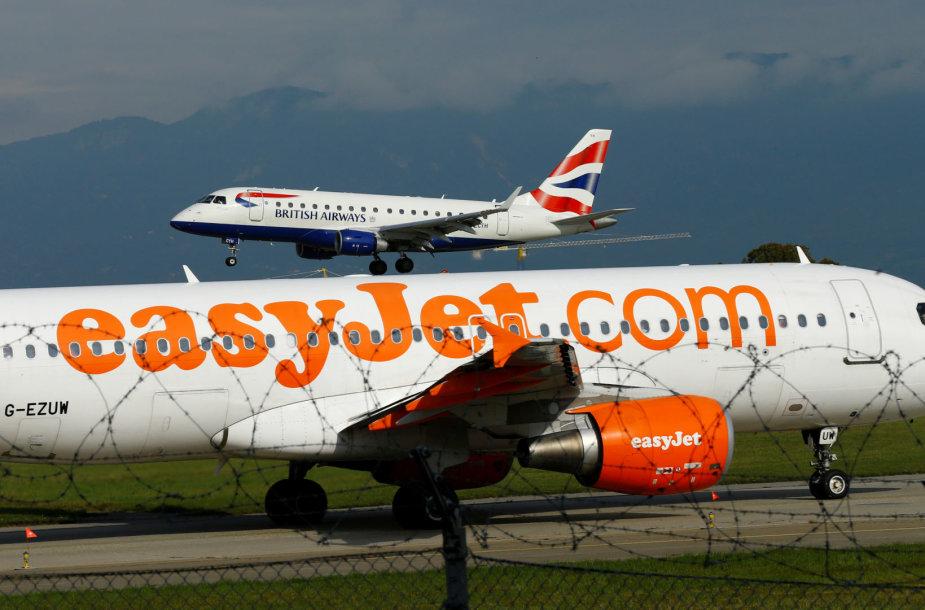 """Sąrašo viršuje – """"British Airways"""" ir """"easyJet"""""""