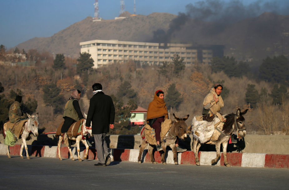 Prabangiame Afganistano sostinės viešbutyje – ginkluotas įsiveržimas
