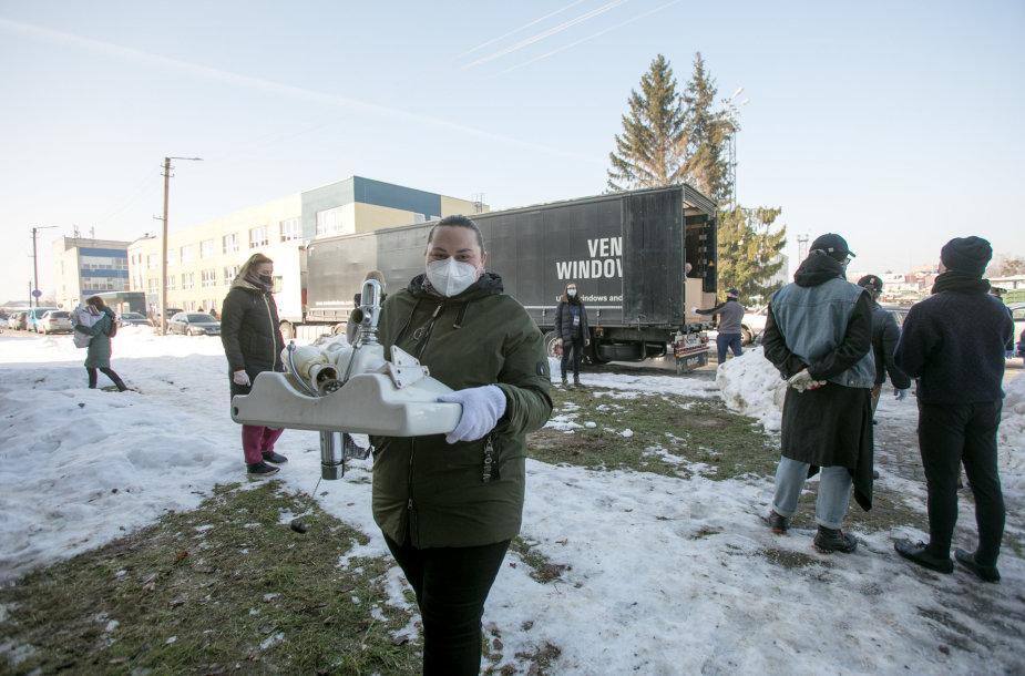 Kauno hospiso namai priėmė iš Norvegijos atkeliavusią paramą