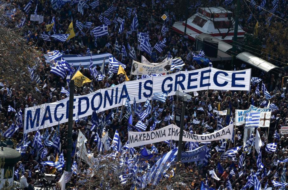 Protesto akcija Atėnuose