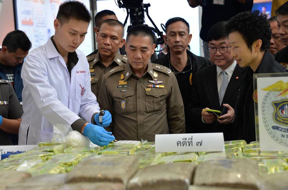 Tailande sulaikytas kristalinis metamfetaminas