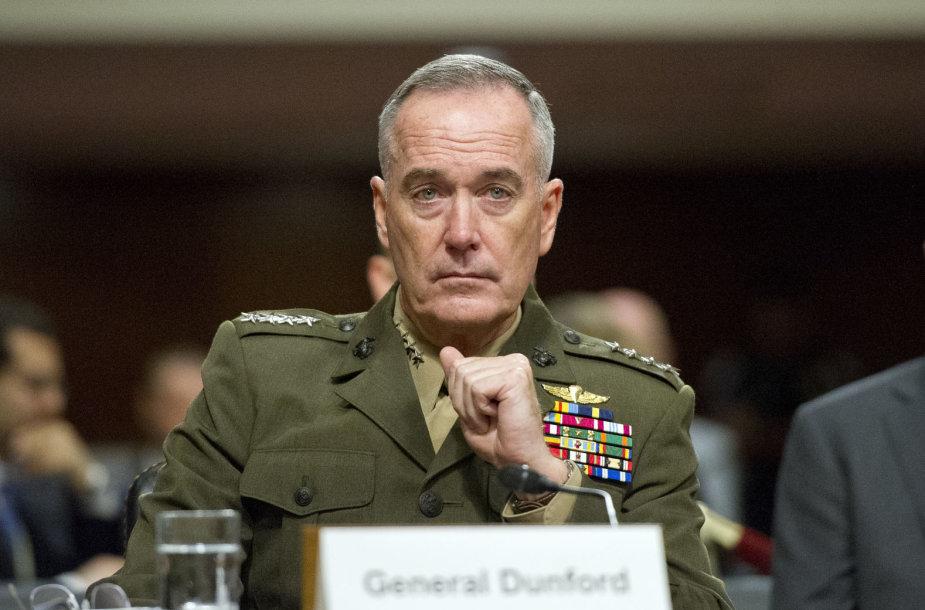 JAV Jungtinio štabų vadų komiteto viršininkas generolas Joe Dunfordas