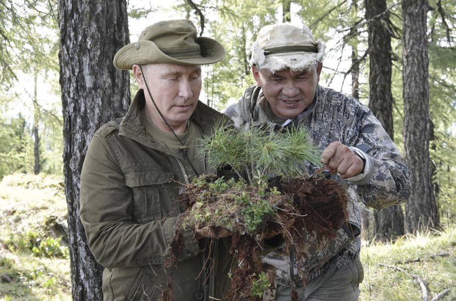 Vladimiras Putinas ir Sergejus Šoigu