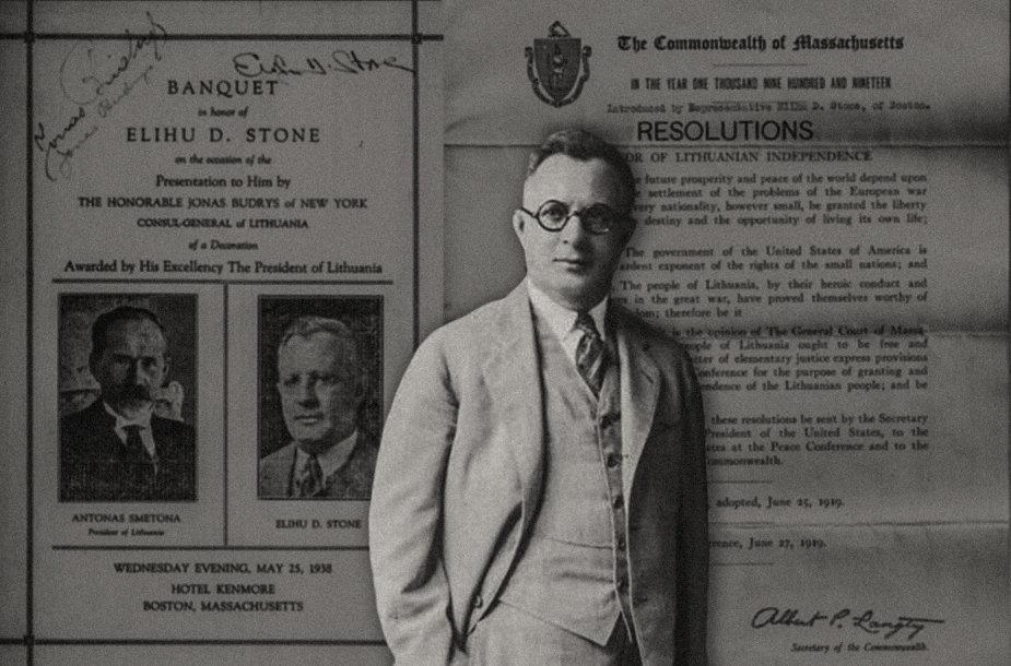 E.Stone'as – rezoliucijos dėl Lietuvos Nepriklausomybės pripažinimo iniciatorius