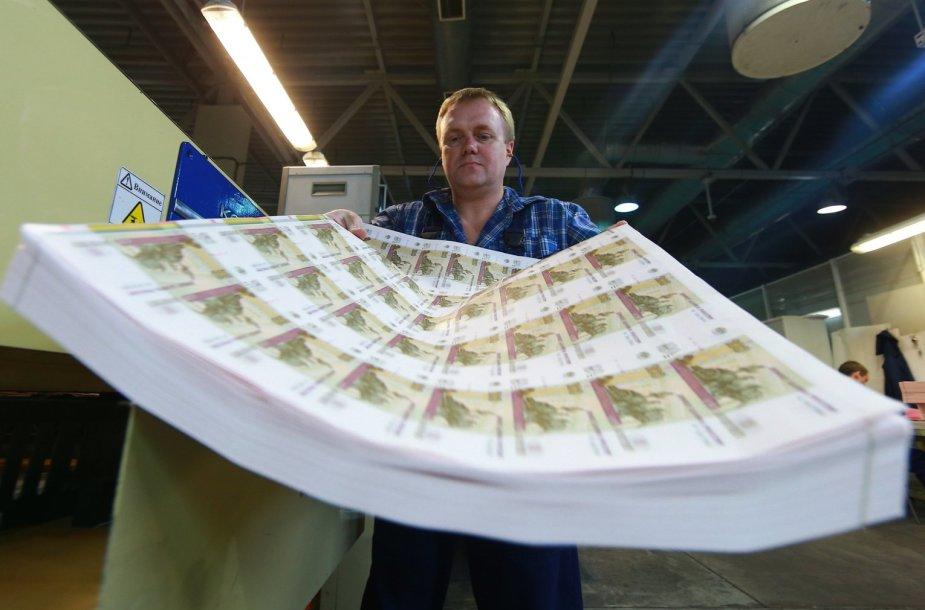 Nesupjaustyti rublio banknotai