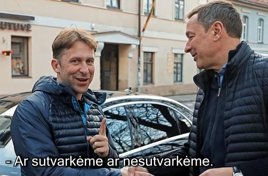 """Ištrauka iš Egidijaus Dragūno ir Artūro Zuoko vykdyto """"Vilniaus gatvių"""" reido"""