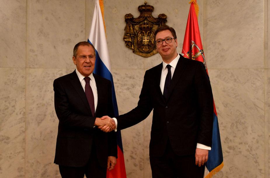 Sergejus Lavrovas ir Aleksandras Vučičius