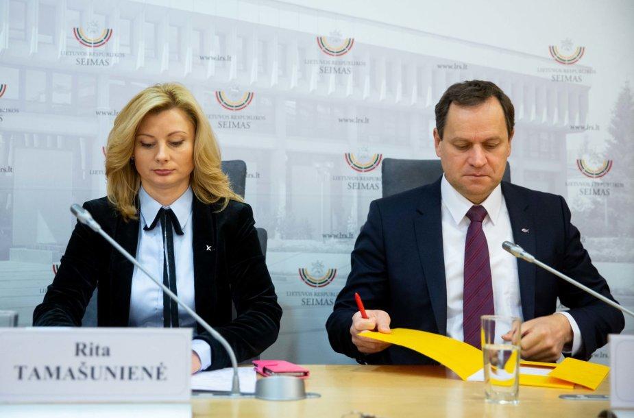 Rita Tamašunienė ir Valdemaras Tomaševskis