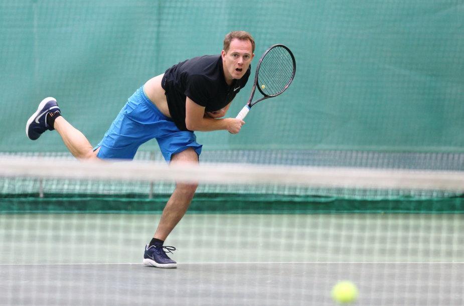 """""""Teniso piramidės"""" žiemos sezono nugalėtoju tapo Tadas Skairys"""