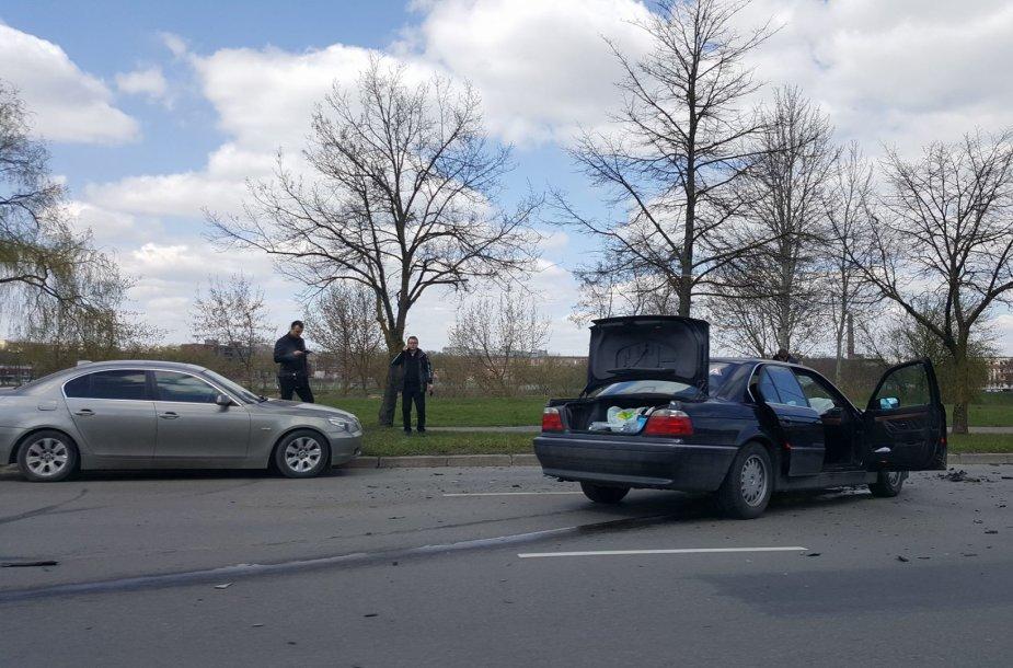 Kaune susidūrė du BMW