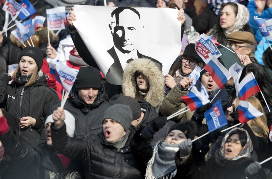 V.Putinas kreipėsi į dešimtis tūkstančių gerbėjų Maskvos Lužnikų stadione
