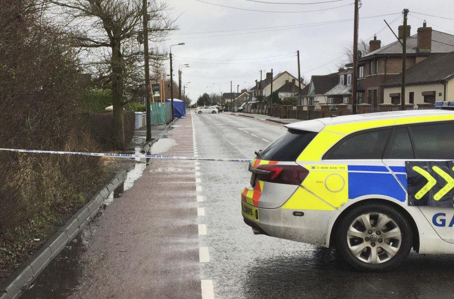 Airijos policija įvykio vietoje