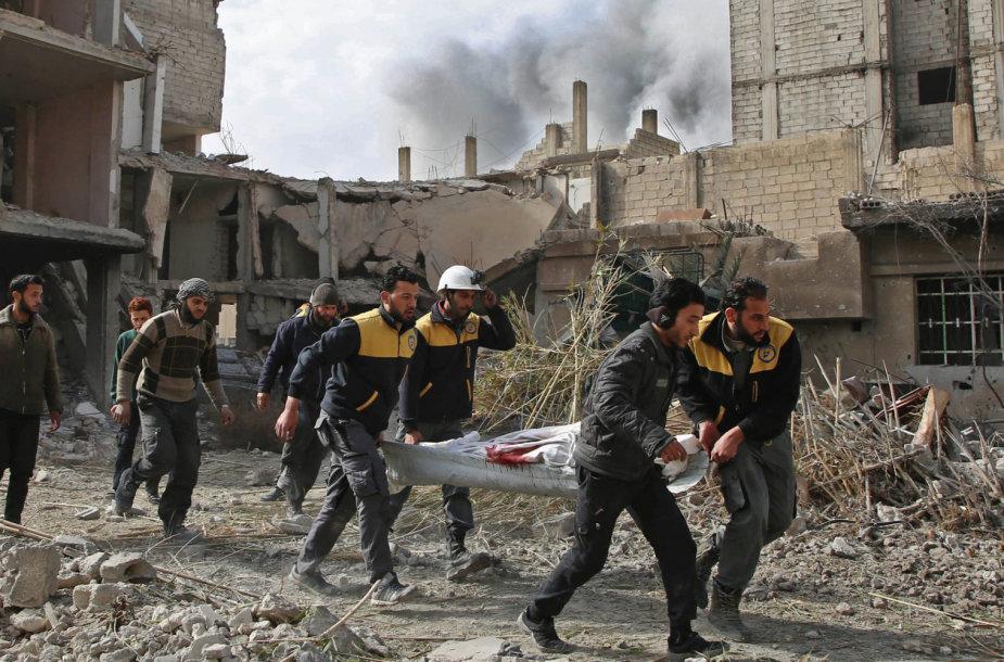 Rytų Guta aktyviai bombarduojama