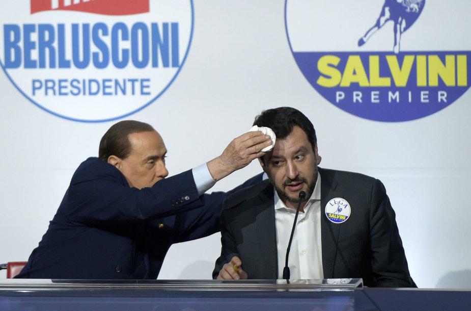 Silvio Berlusconi ir Matteo Salvini