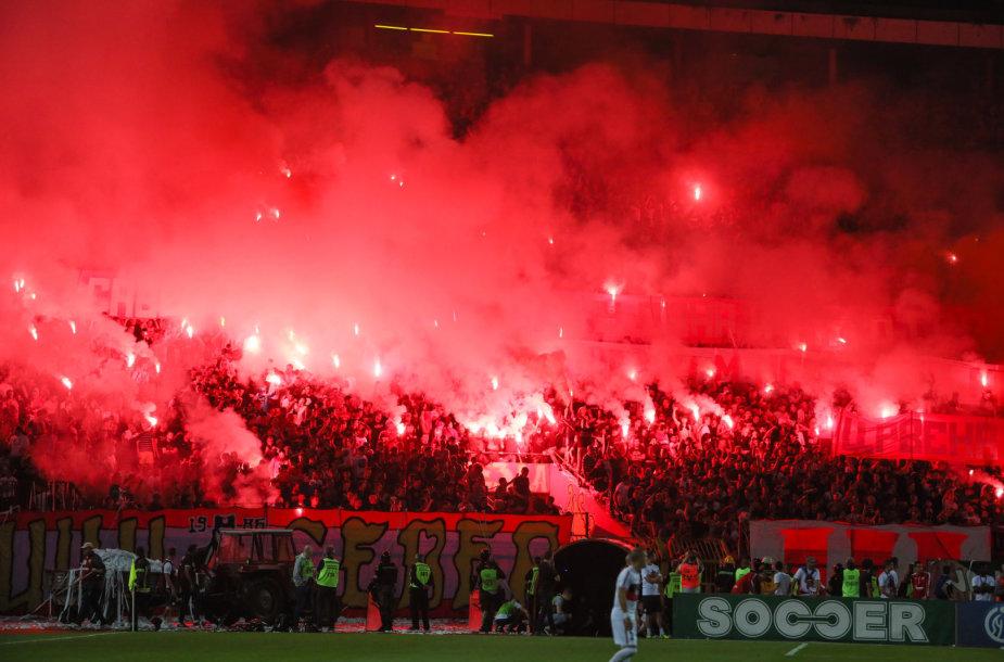 "Belgrado ""Crvena Zvezda"" rungtynėse"