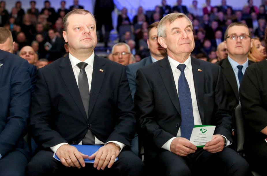Saulius Skvernelis ir Viktoras Pranckietis