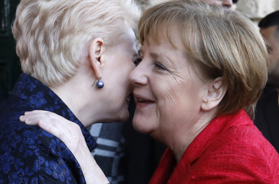 Dalia Grybauskaitė ir Angela Merkel