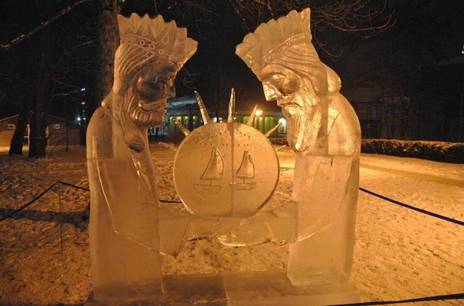 Druskininkuose – ledo skulptūrų ekspozicija