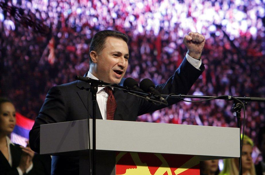 Makedonijos premjeras Nikola Grujevskis