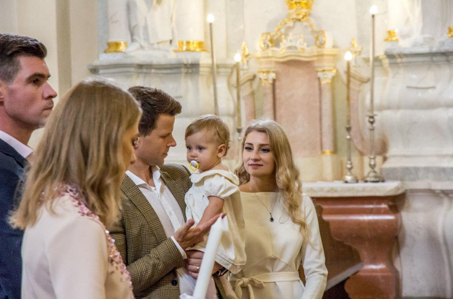 Ievos ir Ryčio Vaitiekūnų dukros gimtadienis ir krikštynos