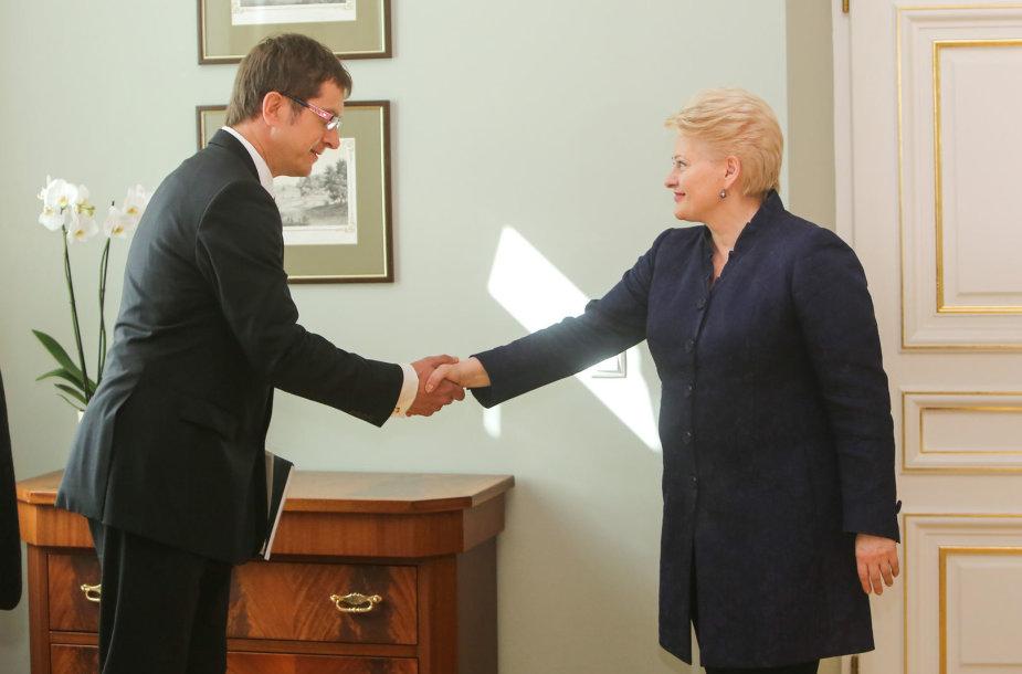 Stasys Kasiulis ir Dalia Grybauskaitė